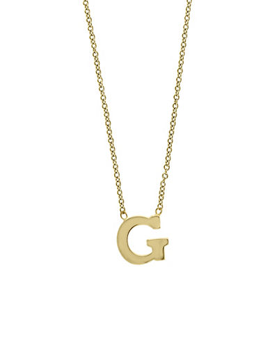 Effy 14K Yellow Gold Large Initial Necklace-LETTER G-One Size