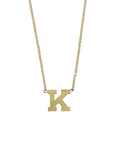 Effy 14K Yellow Gold Large Initial Necklace-LETTER K-One Size