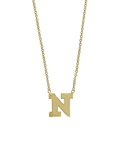 Effy 14K Yellow Gold Large Initial Necklace-LETTER N-One Size