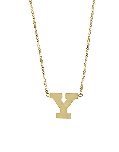 Effy 14K Yellow Gold Large Initial Necklace-LETTER Y-One Size