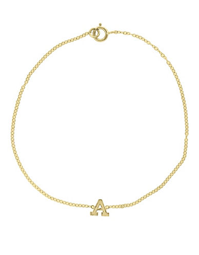 Effy 14K Yellow Gold Initial Bracelet-LETTER D-One Size