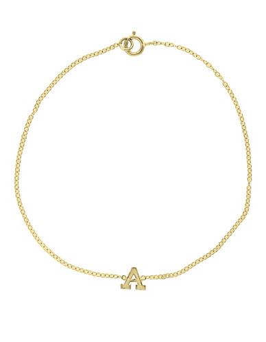 Effy 14K Yellow Gold Initial Bracelet-LETTER E-One Size