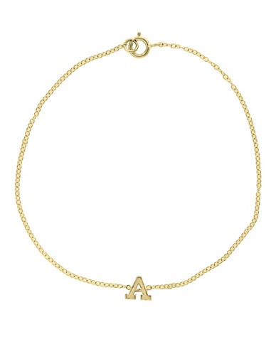 Effy 14K Yellow Gold Initial Bracelet-LETTER F-One Size