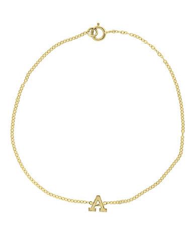 Effy 14K Yellow Gold Initial Bracelet-LETTER G-One Size