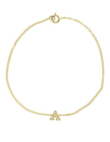 Effy 14K Yellow Gold Initial Bracelet-LETTER L-One Size