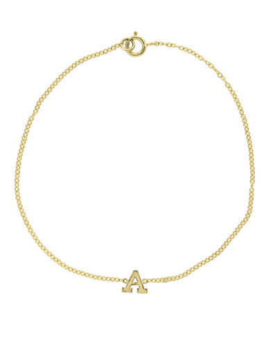 Effy 14K Yellow Gold Initial Bracelet-LETTER M-One Size