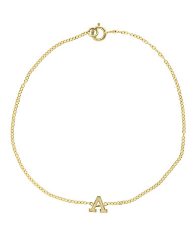 Effy 14K Yellow Gold Initial Bracelet-LETTER P-One Size