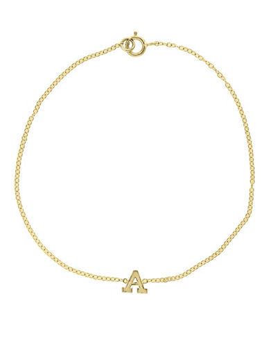 Effy 14K Yellow Gold Initial Bracelet-LETTER R-One Size