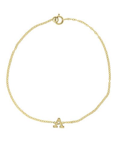 Effy 14K Yellow Gold Initial Bracelet-LETTER S-One Size