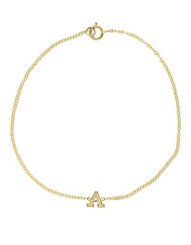 Effy 14K Yellow Gold Initial Bracelet-LETTER V-One Size