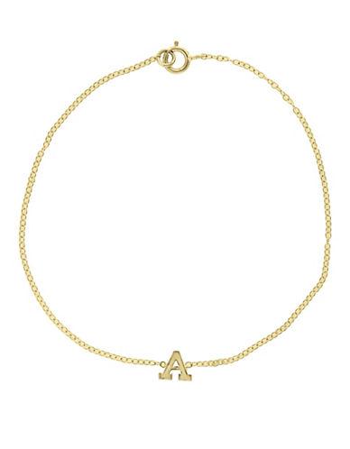 Effy 14K Yellow Gold Initial Bracelet-LETTER W-One Size