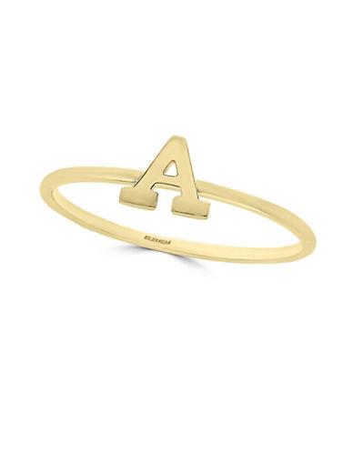 Effy 14K Yellow Gold Initial Ring-LETTER E-7