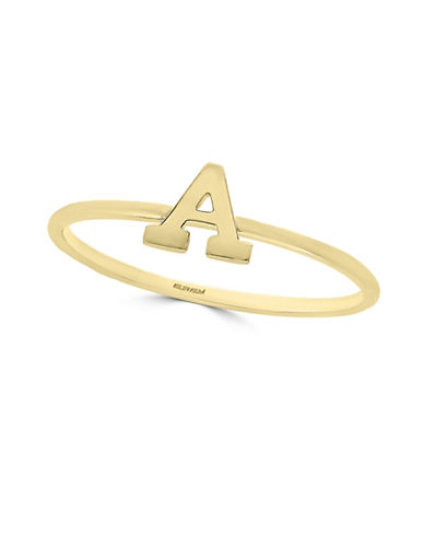 Effy 14K Yellow Gold Initial Ring-LETTER T-7