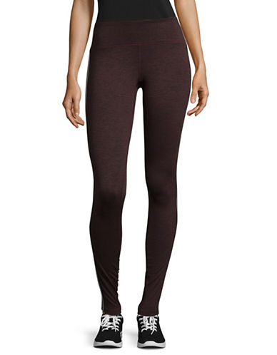 Spiritual Gangster Athletic Stripe Practice Leggings-PURPLE-X-Small
