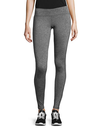 Spiritual Gangster Athletic Stripe Practice Leggings-SILVER-Medium