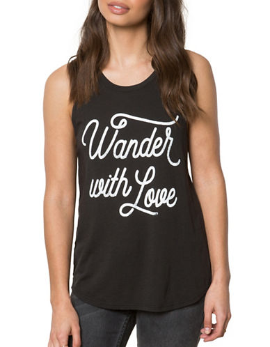 Spiritual Gangster Wander Love Tank Top-BLACK-X-Small