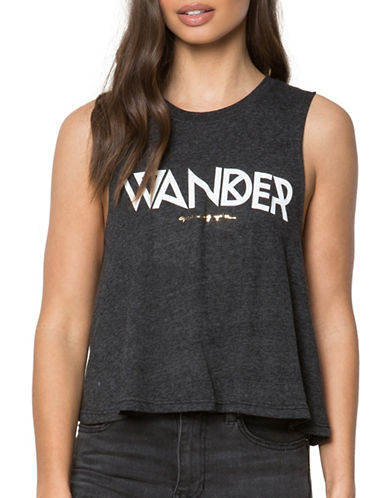 Spiritual Gangster Wander Tribe Cropped Tank Top-BLACK-X-Small