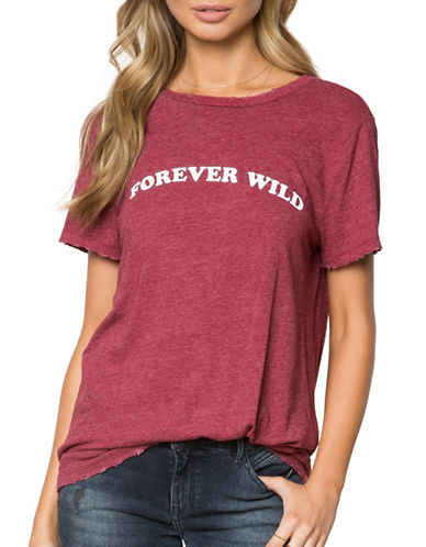 Spiritual Gangster Forever Wild Rec Tee-RED-Medium