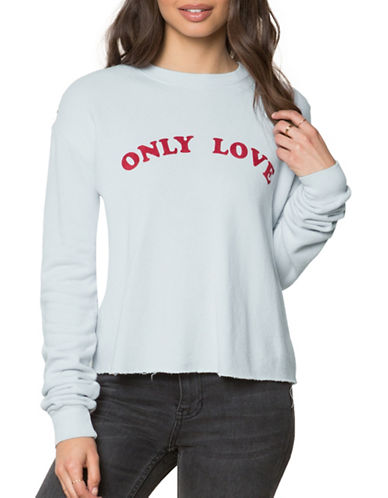 Spiritual Gangster Love Crop Sweatshirt-BLUE-Large