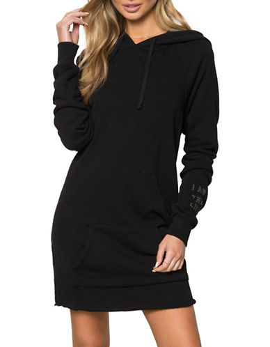 Spiritual Gangster I Am the Light Cotton Sweater Dress-BLACK-Large