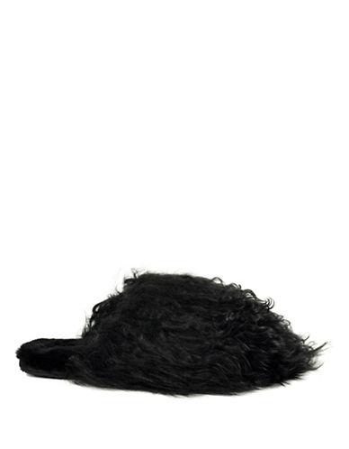 Ugg Fluff Momma Mongolian Clog-BLACK-9