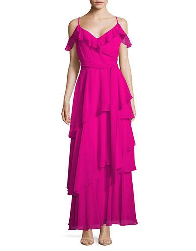 Tahari Tiered Ruffle Maxi Dress-PINK-2
