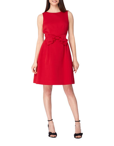 Tahari Sleeveless Fit-and-Flare Dress-RED-8