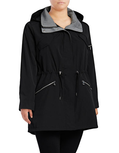 Vince Camuto Plus Hooded Poly-Fill Anorak-BLACK-3X
