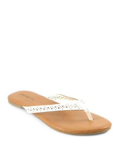 Indigo Rd Brita Ambra Cut-Out Faux Leather Flat Sandals-WHITE-6