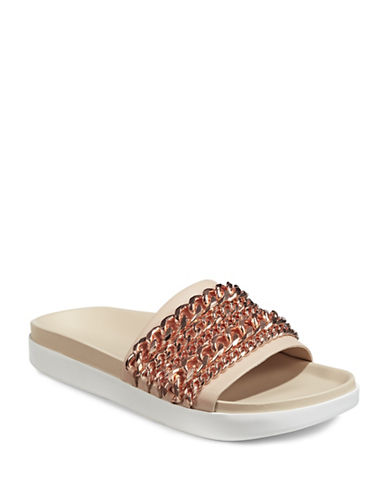 Kendall + Kylie Shiloh Curb Chain Sandals-ROSE GOLD-8.5