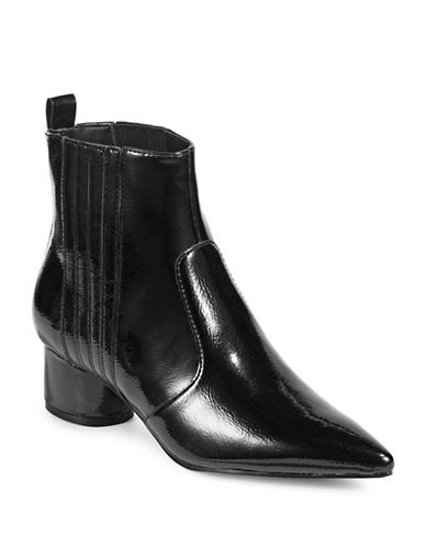 Kendall + Kylie Laila 3 Pointy Chelsea Boots-BLACK-7.5
