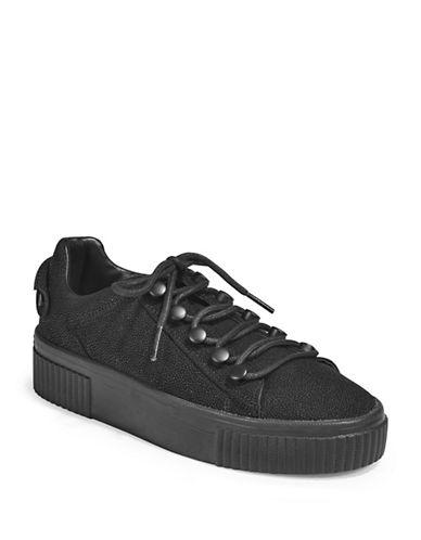 Kendall + Kylie Textured Platform Sneakers-BLACK-6