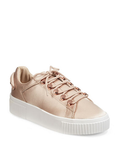 Kendall + Kylie Satin Platform Sneakers-PINK-7