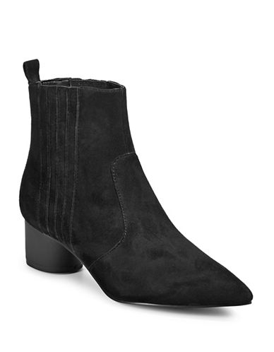 Kendall + Kylie Laila Suede Chelsea Boots-BLACK-8.5