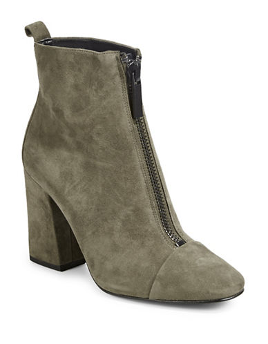 Kendall + Kylie Raquel Suede Booties-OLIVE-9.5