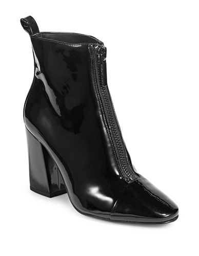 Kendall + Kylie Raquel3 Patent Booties-BLACK-7