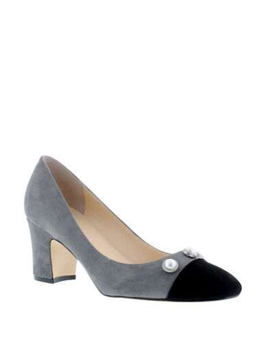 Ivanka Trump Cap Toe Pumps-GREY-8.5