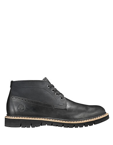 Timberland Leather Chukka Boots-BLACK-7.5