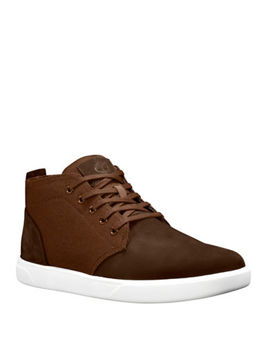 Timberland Lace-Up Leather Chukka Sneakers-BROWN-9.5