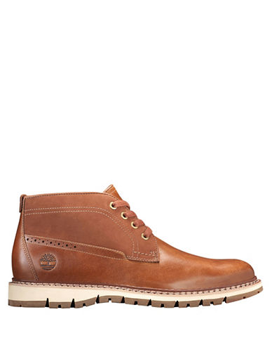 Timberland Leather Chukka Boots-BROWN-13