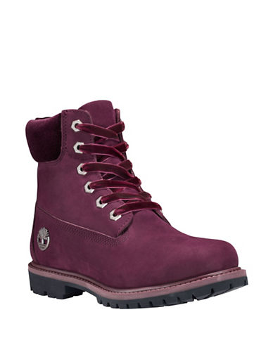 Timberland Icon 6 Premium Leather Waterproof Boots-BURGUNDY-10