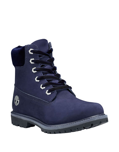 Timberland Icon 6 Premium Leather Waterproof Boots-NAVY-6.5