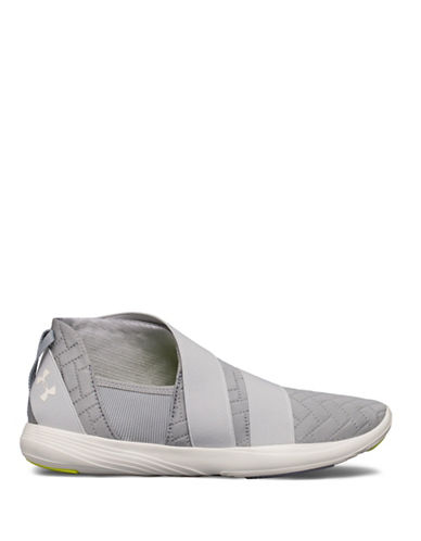 Under Armour Womens Street Precision Slip-On Sneakers-GREY-10
