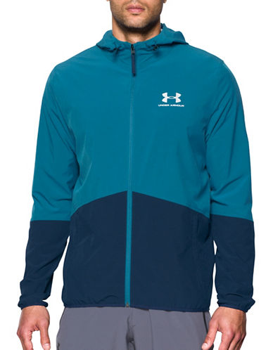 Under Armour Sportstyle Wave Jacket-BLUE-Large