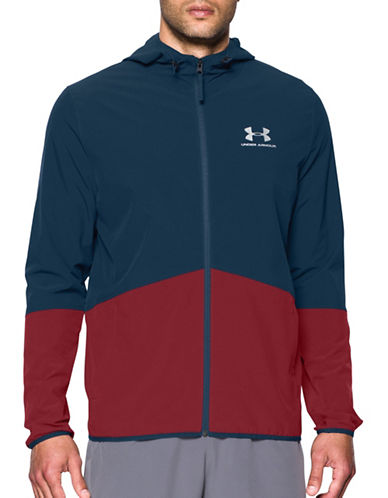 Under Armour Sportstyle Wave Jacket-BLUE-X-Large