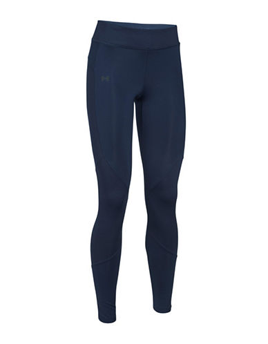 Under Armour ColdGear Reactor Breathable Athleisure Leggings-BLUE-Large