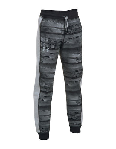 Under Armour Threadborne Printed Fleece Jogger Pants-BLACK-Small