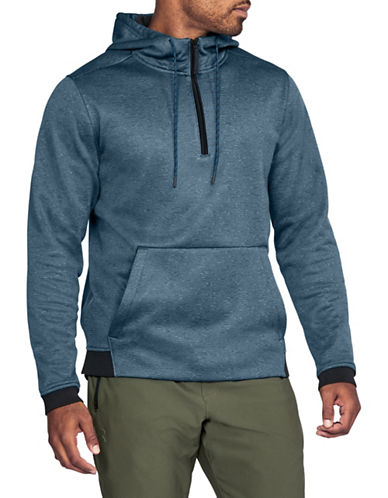 Under Armour Storm Half-Zip Hoodie-LIGHT BLUE-Small