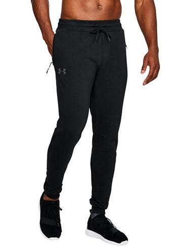 Under Armour Threadborne Fleece Stacked Jogger Pants-BLACK-X-Large 89622075_BLACK_X-Large