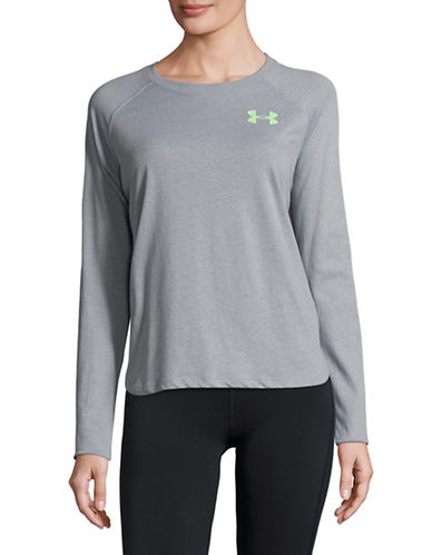 Under Armour Logo Tri-Tone Sweatshirt-GREEN-Medium